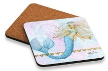 Coaster Cork S/6 10x10 Mermaid