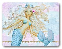 Placemat Cork S/6 29x21.5 Mermaid