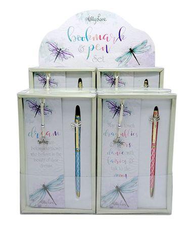 Bookmark & Pen Set 12pc Damselflies