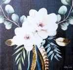 Painting 20x20 Boho Luxe FLORAL C