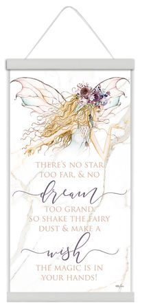 Canvas Scroll 50x90 Boho Fairy WISH