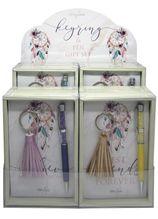 Keyring & Pen Set 12pc Boho Fairy