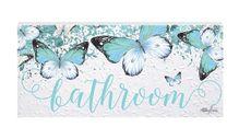 Door Plaque 8x18 Bejewelled BATHROOM