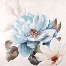 Painting 20X20 BLUE FLORAL