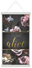 Canvas Scroll 30x60 Midnight Floral ALIV