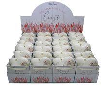 Porcelain Heart Gift Bag Set 24pc Protea
