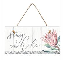Hanging Plaque 15x30 3D Protea STAY