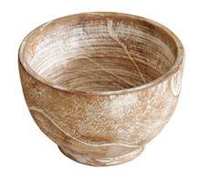 Bowl White Wash 10x10x10