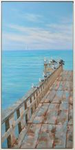 Shadow Framed Painting 90x190 SEAGULL