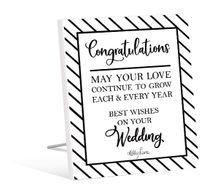 Sentiment Plaque 12x15 3D Modern WEDDING