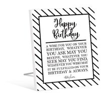Sentiment 12x15 3D Modern BIRTHDAY