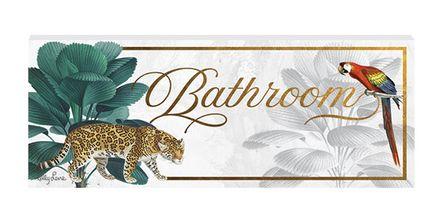 Door Plaque 8x18 3D St Barts BATHROOM