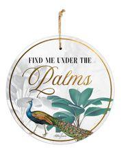 Hanging Tin Sign 30cm St Barts PALMS
