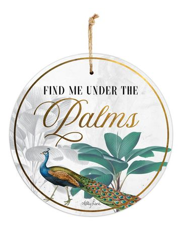Hanging Tin Sign 30cm St Barts PALMS