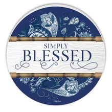 Round Wall Art 48cm Chippendale BLESSED