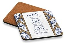Coaster S/6 10x10cm Chippendale LOVE