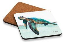 Coaster S/6 10x10cm Sea Turtle ELLIOT
