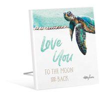 Sentiment 12x15 3D Sea Turtle MOON