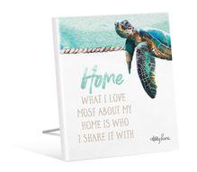 Sentiment 12x15 3D Sea Turtle HOME