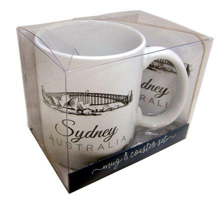 Mug & Coaster 4pc Gift Pk Tourism SYDNEY