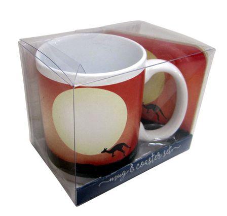 Mug & Coaster 4pc Gift Pk Tourism ULURU