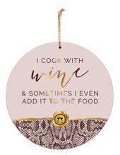 Hanging Tin Sign 30cm Vogue WINE