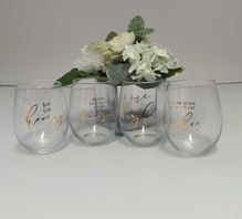 Stemless Glass 12PC Assorted Vogue STEML