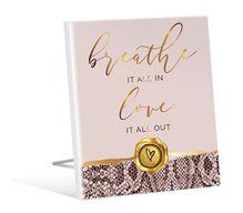 Sentiment Plaque 12x15 3D Vogue BREATH