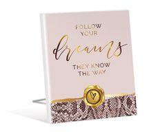 Sentiment Plaque 12x15 3D Vogue DREAM