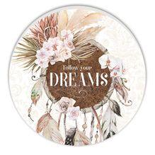 Round Timber Wall Art 60cm Bismark DREAM