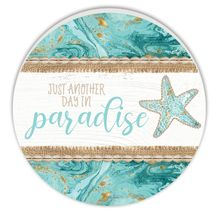 Round Timber Wall Art 48cm Reef PARADISE