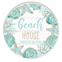 Round Timber Wall Art 60cm Reef HOUSE