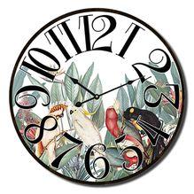 Clock 34cm Lush BIRDS