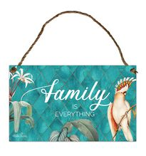 Hanging Tin Sign 18x30 Lush FAMILY