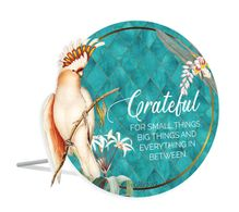 Sentiment Plaque 15x16 3D Lush GRATEFUL