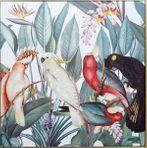 Framed Painting 100x100 Lush BIRDS