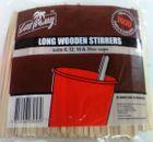 LONGER WOODEN STIRRERS 190 x 6mm 1000PAK 5PAK/CTN