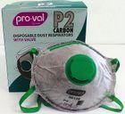 P2 CARBON RESPIRATORS 30129 WITH VALVE 10/BOX 12BOXES/CTN