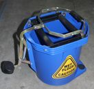 BLUE  MOP BUCKET 16lt PLASTIC WITH CASTERS 1/ONLY