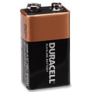9 VOLT DURACELL BATTERY 1/ONLY 12/PACK