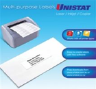 A4 UNISTAT LABELS 30/SHEET 64x25 100SHEETS/PACK