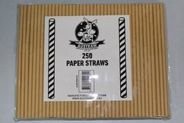 PAPER STRAWS  BROWN KRAFT 250/PAK 10PAK/CTN