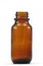 25ml AMBER GLASS BOTTLE 156/CT 20mm CHILD RESTISTANT  CAP (C)