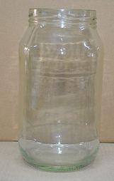2lt CLEAR GLASS JAR 6/CTN 100mm METAL TWIST  CAP (P)