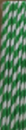 JUMBO PAPER STRAWS GREEN/WHITE 100/PAK 25PAK/CTN