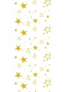 CHRISTMAS TABLE CLOTH ROLL GOLD STARS 30M 1/ROLL