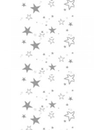 CHRISTMAS TABLE CLOTH ROLL SILVER STARS 30M 1ONLY