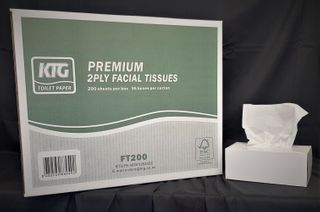 HD Premium 2ply Facial Tissues 200s x 36