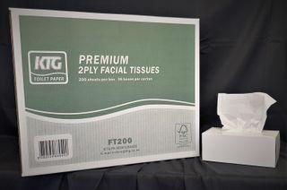 HD Premium 2ply 200 Facial Tissues x 36