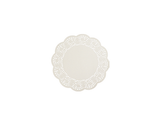 Enviroboard® Lace Doyley, Round - 5 inches 125mm | White (2000)